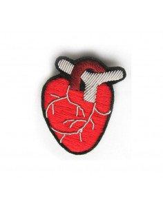 Macon et Lesquoy broche brodée Coeur anatomique