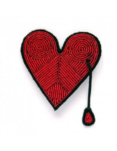 macon et lesquoy broche coeur rouge