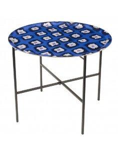 Mariska Meijers amsterdam Table d'appoint Ikat blue