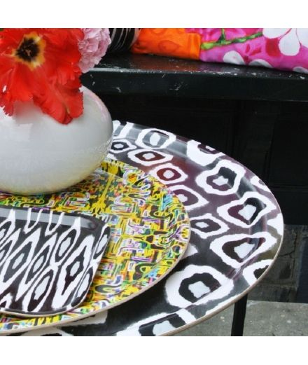 MARISKA MEIJERS Table d'appoint Ikat black