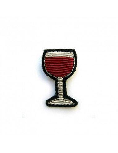 Macon et Lesquoy Broche brodée à la main - Verre de vin rouge