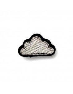 Macon et Lesquoy Broche brodée main - Petit nuage argent