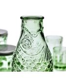 Serax design Paola Navone fish and fish Bouteille poisson verre vert