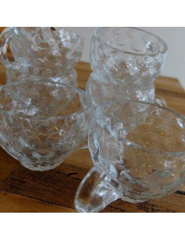 brocante vintage Tasses café thé verrines en verre soufflé bouche