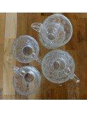 Brocante vintage tasses café thé verrines Tasses en verre soufflé bouche