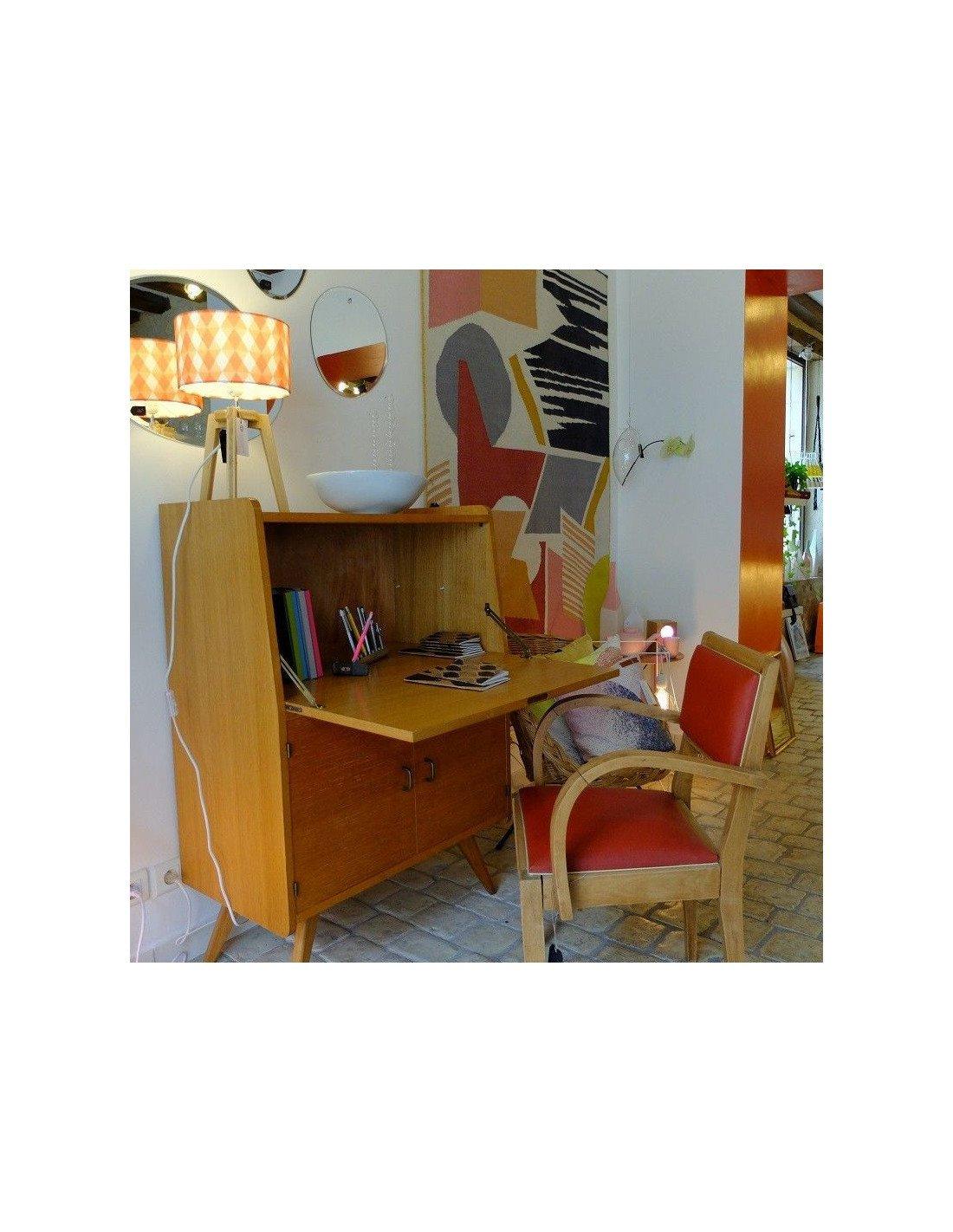 brocante secr taire vintage ann es 50. Black Bedroom Furniture Sets. Home Design Ideas