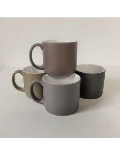 serax jansen co + porcelaine tasse mug cafe thé gris mat