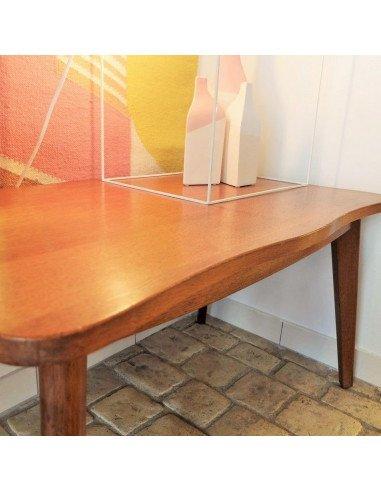 Brocante vintageTable basse design années 50 fifties chêne massif