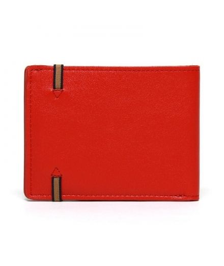 Carré Royal maroquinerie homme femme cuir Portefeuille rouge coquelicot