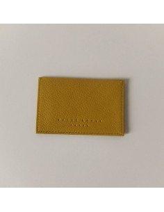 Carré Royal maroquinerie cuir homme femme fabriqué en france Porte cartes jaune
