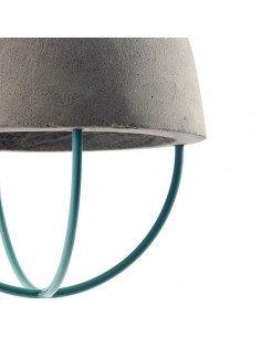 Serax design marie michielssen industriel indus Suspension béton brut et métal bleu vert