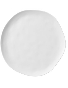Rader Grande assiette porcelaine blanche design original contemporain