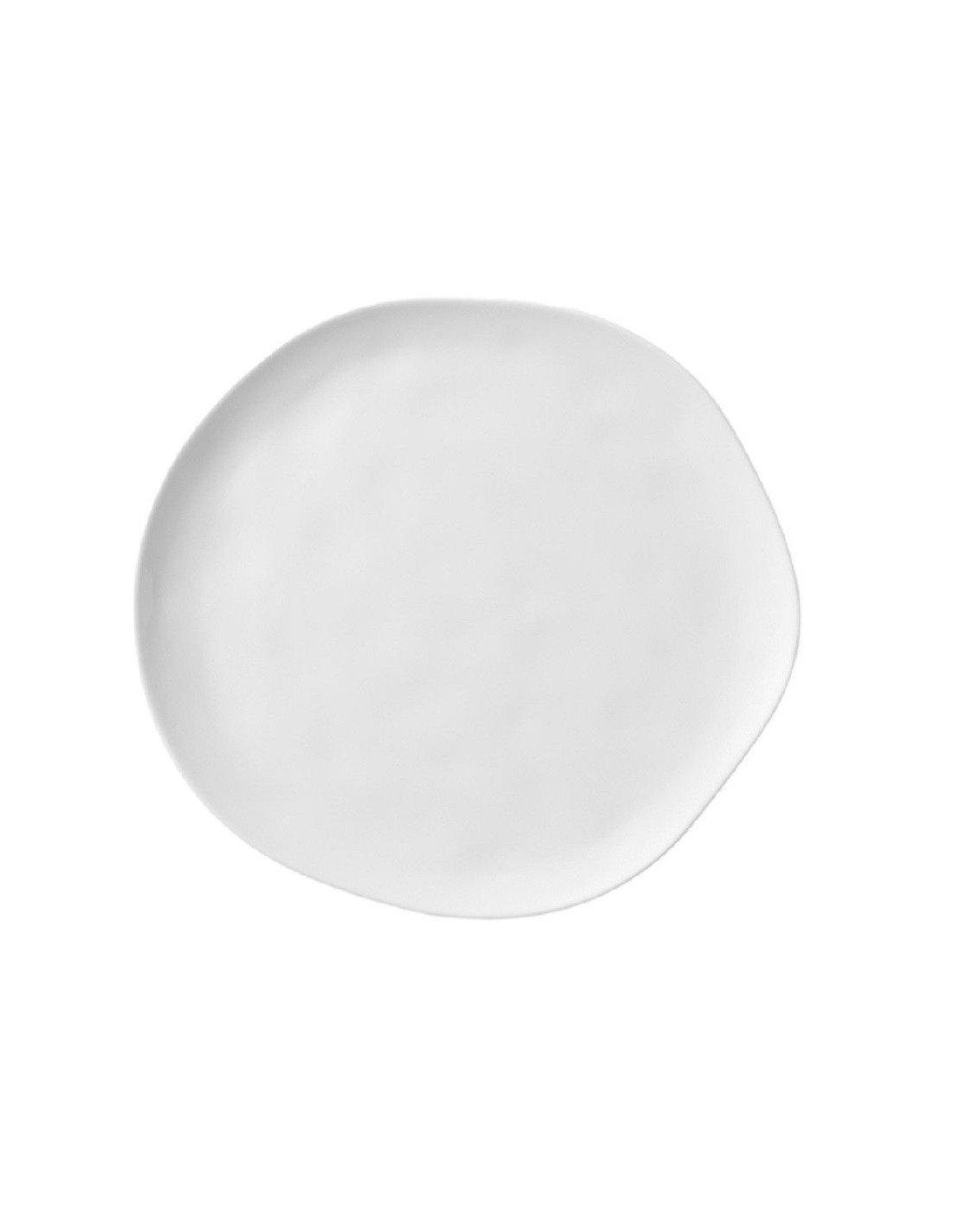 r der design grande assiette en porcelaine blanche par 4. Black Bedroom Furniture Sets. Home Design Ideas