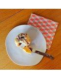 Rader Petite assiette dessert design original porcelaine blanche