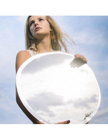 m nuance grand miroir rond argent design forme aleatoire 47X50