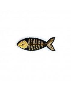 Macon et Lesquoy bijou broche brodee main arrête de poisson