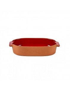 Serax Jansen co plat four gratin terre cuite émaillé rouge