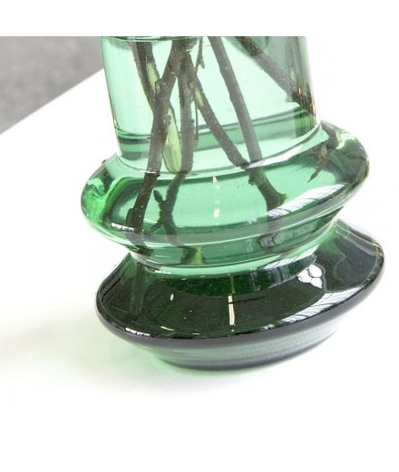 house doctor Vase haut Forms vert verre transparent design deco scandinave indutrielle