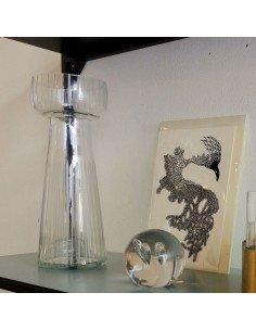 house doctor Vase bulbe lines verre transparent design indus loft jacinthe