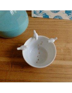 rader design bol porcelaine blanche oiseaux idee cadeau bapteme mariage