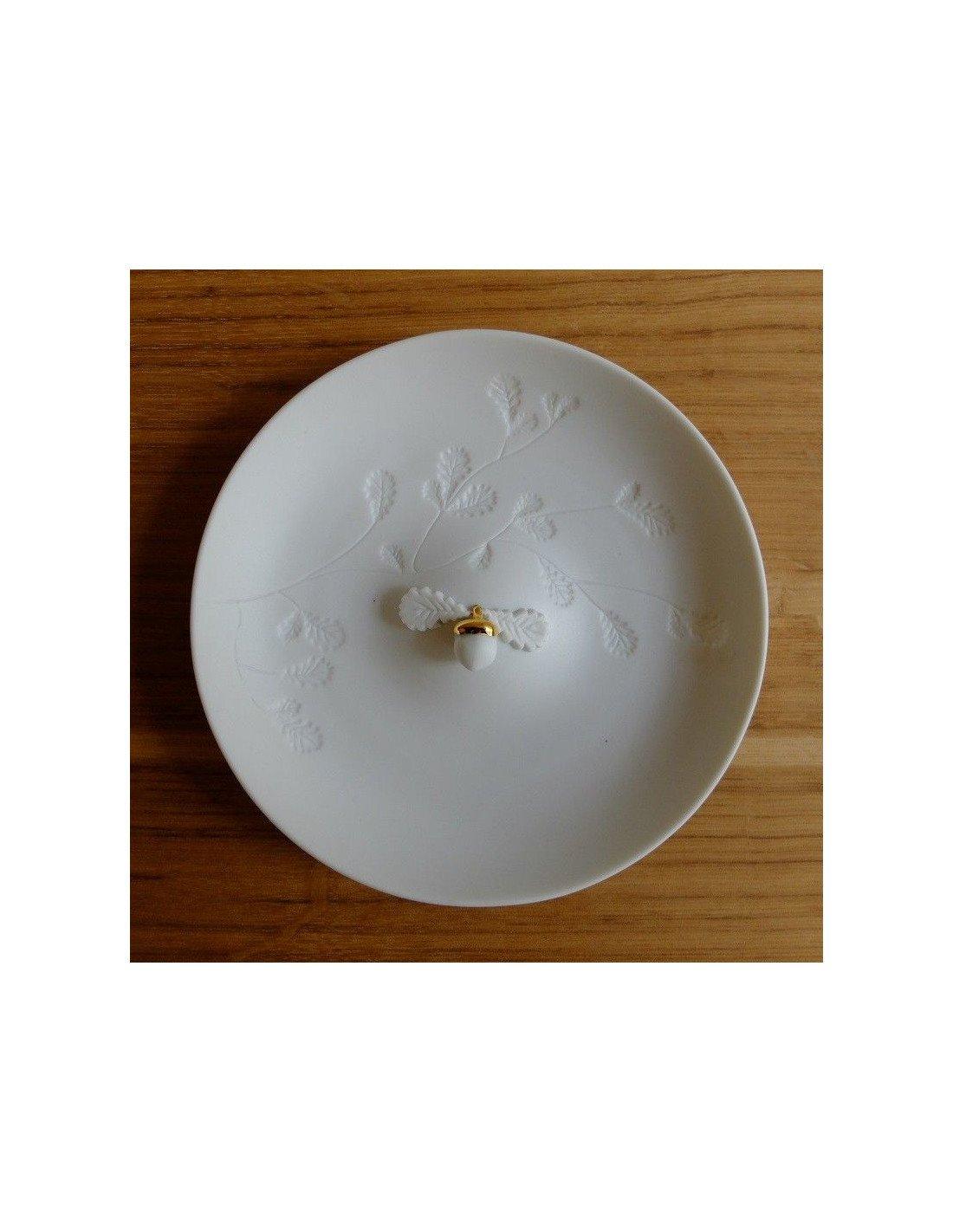 r der design assiette en porcelaine blanche avec un. Black Bedroom Furniture Sets. Home Design Ideas