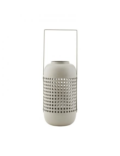 house doctor photophore lanterne exterieur jardin metal gris