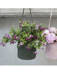 serax Pot de fleurs a suspendre en tissus enduit jardin mural suspendu
