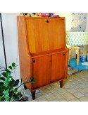 brocante secrétaire bureau vintage chêne foncé