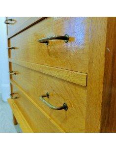 brocante en ligne mobilier Commode vintage chêne clair