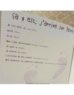 Journal album de naissance a personnaliser Patricia Doré