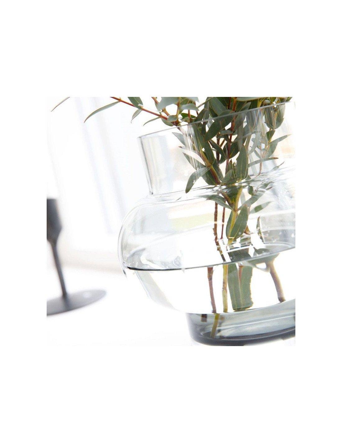 house doctor vase au design minimaliste forms bas en verre transparent. Black Bedroom Furniture Sets. Home Design Ideas