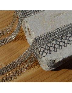 Pascale Lion collier sautoir design original metal argent