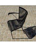 Fauteuil fifties en fils de scoubidou noir mobilier vintage en ligne