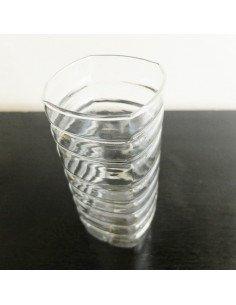 Vase bouteille coupée verre transparent serax
