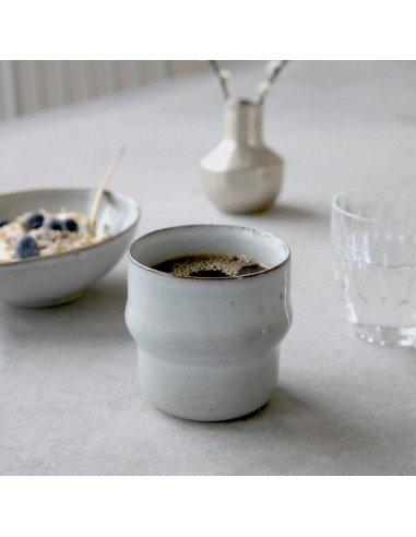 Timbale Sands house doctor faience mug tasse vaisselle gris