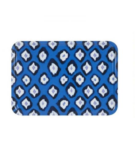 Plateau rectangle Ikat electric blue mariska meijers amsterdam