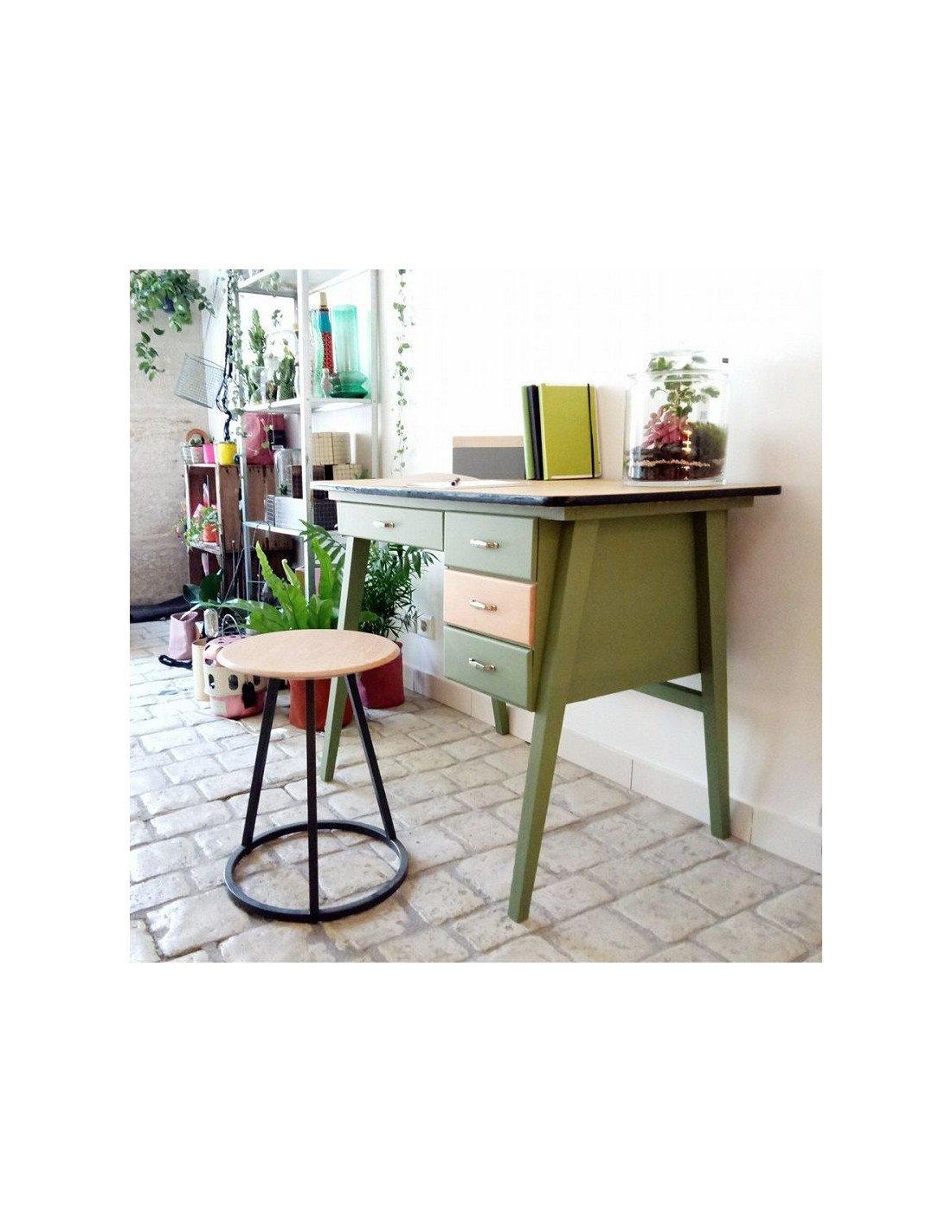 brocante vintage bureau d 39 colier ann es 50 r nov vert. Black Bedroom Furniture Sets. Home Design Ideas