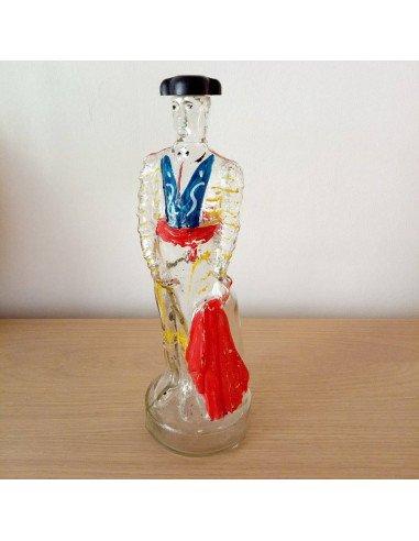 brocante vintage bouteille de forme en verre