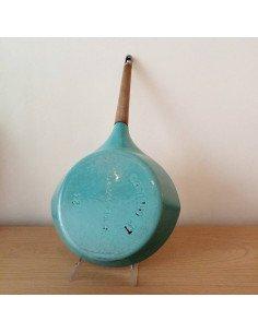 Petit vase en verre bleu brocante vintage