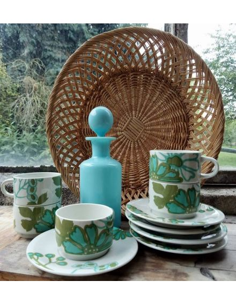 Tasses à café Villeroy & Boch scarlett brocante vintage