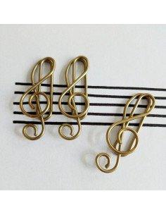 Trombones fantaisie metal clé de sol musique