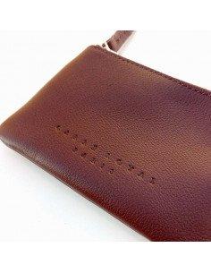 Porte monnaie cognac carré royal cuir maroquinerie hommes femmes paris