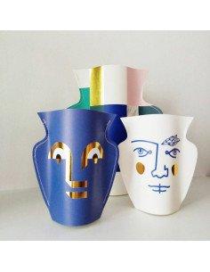 Mini vase papier Janus octaevo vase design carte