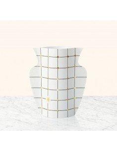 Mini vase papier Lido octaevo blanc et or