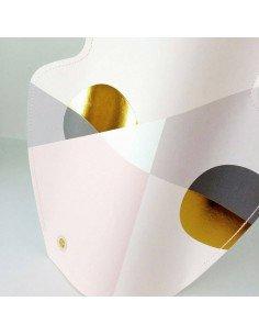 Vase papier Siena octaevo rose et or