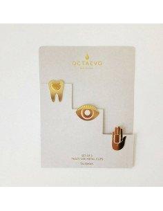 Clips en métal Talisman octaevo main oeil dent