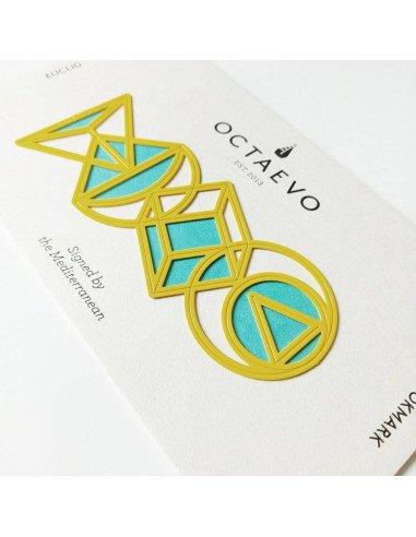 Marque page Euclid jaune metal octaevo octaveo
