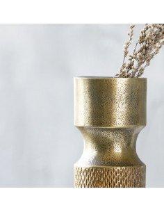 Vase en métal couleur laiton vieilli cuivré doré house doctor