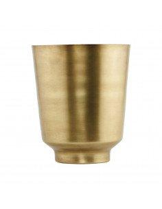 house doctor cache pot vase metal laiton vieilli cuivre doré orchidée