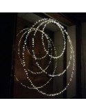 Cercle lumineux Eclipse 50 cm bazardelux mini led decoration noel extérieur intérieur